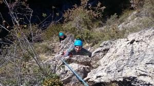 escalade via corda Pau Béarn