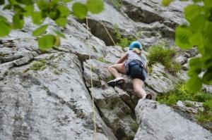 moniteur escalade Pyrénées vallée d'Ossau