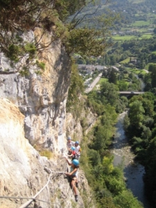 groupe incentive canyoning escalade Pyrénées