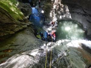 canyoning pyrénées cap pount